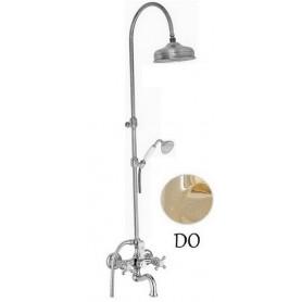 Душевая стойка для ванны с изливом Migliore Arcadia цвет золото