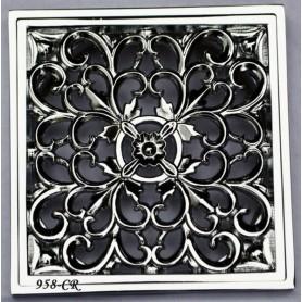 Решетка для трапа Magliezza 958 (хром) - Vanna-retro.ru