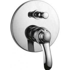 Смеситель для ванны и душа скрытого монтажа Cezares Lira VDIM-01 хром
