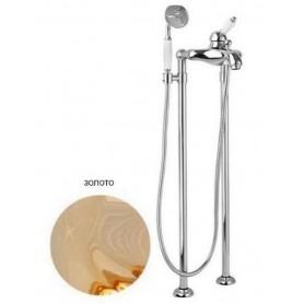Смеситель для ванны напольный Cezares Elite VDPM-03 золото ➦ Vanna-retro.ru