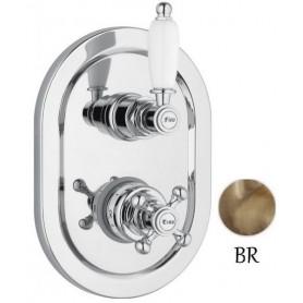 Смеситель для ванны и душа с термостатом Cezares Elite VDIM2-T-02 бронза ➦