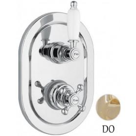 Смеситель для ванны и душа с термостатом Сezares Elite VDIM2-T-03 золото ➦