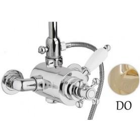 Смеситель для душа и ванны с термостатом Cezares Elite D-T-03 золото ➦