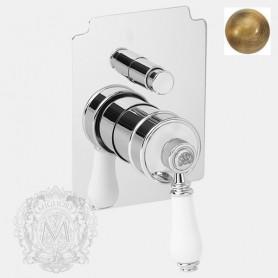 Смеситель для душа и ванны скрытого монтажа Migliore Ermitage 7072 бронза ➦