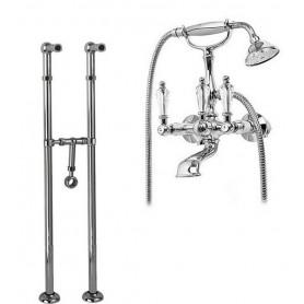 Смеситель для ванны напольный Cezares Diamond VDPS-01-Sw хром, ручка Swarovski ➦