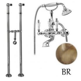 Смеситель для ванны напольный Cezares Diamond VDPS-02-Sw бронза, ручка Swarovski ➦