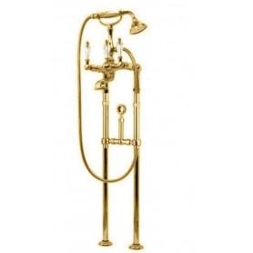 Смеситель для ванны напольный Cezares Diamond VDPS-03-Sw золото, ручка Swarovski ➦