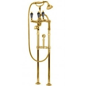 Смеситель для ванны напольный Cezares Diamond VDPS-03-Sw-N золото, ручка Swarovski