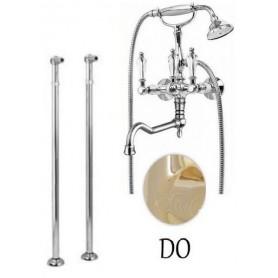 Смеситель для ванны напольный Cezares Diamond VDP2-03-Sw золото, ручка Swarovski ➦