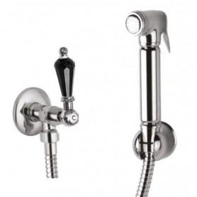 Гигиенический душ Cezares Diamond KS-01-Sw-N ручка Swarovski Nero ➦ Vanna-retro.ru
