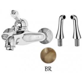 Смеситель на борт ванны Cezares Vintage PBVM-02-Sw бронза, ручка Swarovski ➦