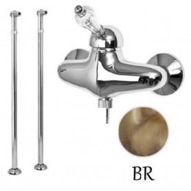 Смеситель для ванны напольный Cezares Vintage VDPM-02-Sw бронза, ручка Swarovski