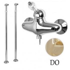 Смеситель для ванны напольный Cezares Vintage-VDPM-03-Sw золото, ручка Swarovski