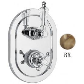 Смеситель для ванны и душа с термостатом Cezares Vintage VDIM2-T-02-Sw бронза Swarovski