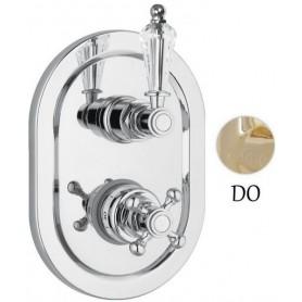 Смеситель для ванны и душа с термостатом Сezares Vintage VDIM2-T-03-Sw золото Swarovski