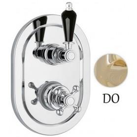 Смеситель для ванны и душа с термостатом Сezares Vintage VDIM2-T-03-Sw-N золото Swarovski Nero