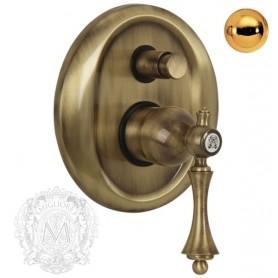 Смеситель скрытого монтажа для ванной и душа Migliore Bomond 9772 золото