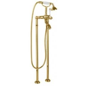 Смеситель для ванны напольный Cezares Margot VDP-03 золото