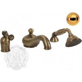 Смеситель на борт ванны Migliore Bomond 9755 золото