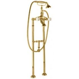 Смеситель для ванны напольный Cezares Atlantis VDPS-03-Sw золото, ручки Swarovski