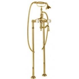 Смеситель для ванны напольный Cezares Atlantis VDP2-03-Sw золото, ручки Swarovski
