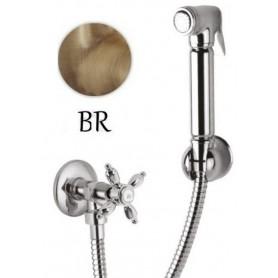 Гигиенический душ с запорным вентилем Cezares Nostalgia KS-02 цвет бронза ➦