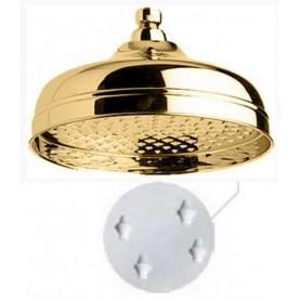 Верхний душ Migliore 35.640 (с антикальцием, диаметр 20 см.) золото ➦ Vanna-retro.ru