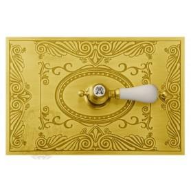 Клавиша смыва Migliore Ottone Classic «Овал» золото