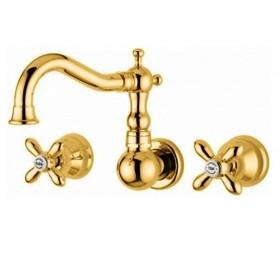 Смеситель для раковины настенный Migliore Princeton Plus 8070 золото