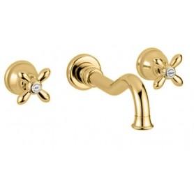 Смеситель для раковины настенный Migliore Princeton Plus 8069 золото