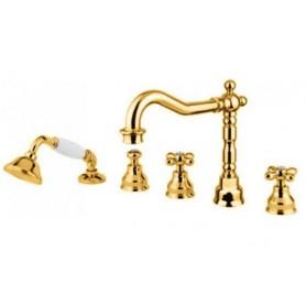 Смеситель на борт ванны Migliore Princeton Plus 8080 золото