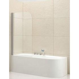 Шторка на ванну Cezares Eco-V1 80х140 см. стекло прозрачное ➦ Vanna-retro.ru