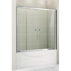 Шторка на ванну Cezares Pratico-VF2 150х140 см. стекло прозрачное ➦ Vanna-retro.ru