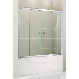 Шторка на ванну Cezares Pratico-VF2 170х140 см. стекло прозрачное ➦ Vanna-retro.ru