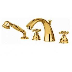 Смеситель на борт ванны Migliore Lady 981 золото ➦ Vanna-retro.ru