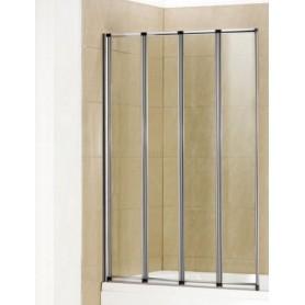 Шторка для ванной Welt Wasser 100ZA4-100, 1000/1400 стекло прозрачное, хром ➦