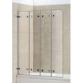 Шторка для ванной Welt Wasser 100ZA4-80, 1000/1400 стекло прозрачное, хром
