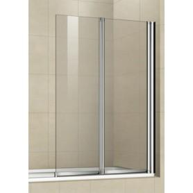 Шторка для ванной Welt Wasser 100Z2-80, 800/1400 стекло прозрачное, хром ➦