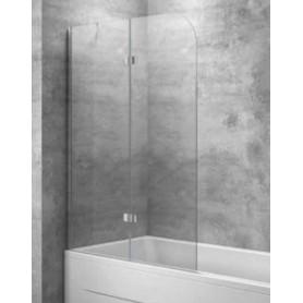 Шторка на ванну Kolpa San Terra 112х142 см TS112D, стекло прозрачное