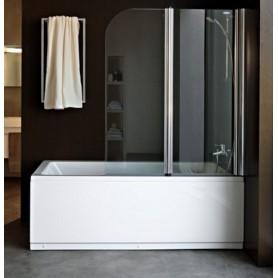Шторка на ванну Kolpa San Sole 112х140 см TP112, стекло прозрачное