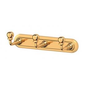Планка с 3-мя крючками тройной 3SC Stilmar, STI 202, цвет: золото