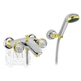 Смеситель для ванны Migliore AXO 602F хром-золото ➦ Vanna-retro.ru