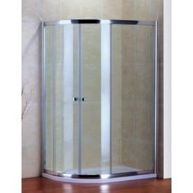 Душевой уголок Cezares Pratico-RH-2 100х80, стекло матовое