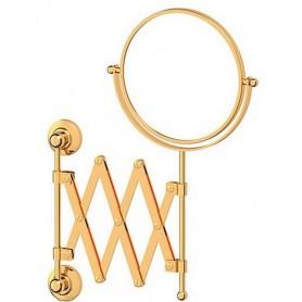 Зеркало косметическое двустороннее Х2 3SC Stilmar, STI 220, цвет: золото