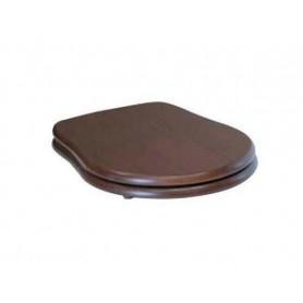 Сидение из дерева орех Kerasan Retro 108640 с функцией плавного опускания, бронза