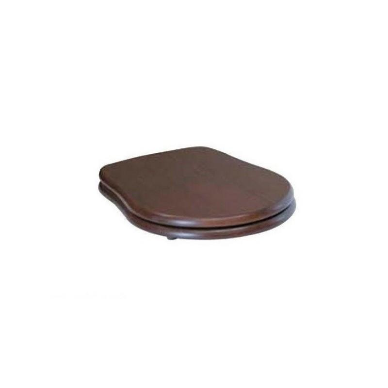 Сидение из дерева орех Kerasan Retro 108640 с функцией плавного опускания, бронза ➦
