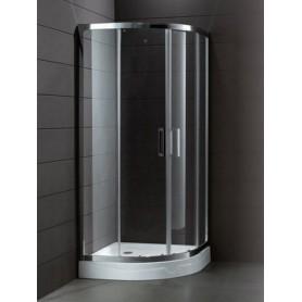 Душевой уголок Cezares Porta-R-2, 100х100 см., стекло прозрачное