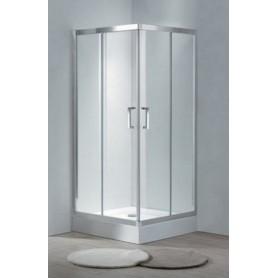 Душевой уголок Cezares Porta-A-2, 90х90 см., стекло матовое
