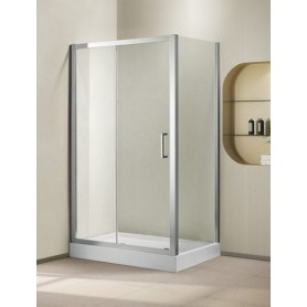 Душевой уголок Cezares Porta-AH-11, 120х100 см., стекло матовое