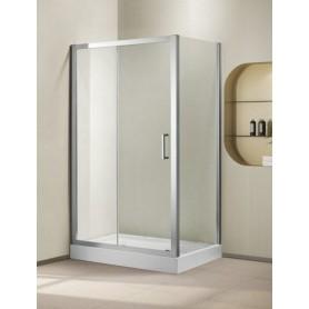 Душевой уголок Cezares Porta-AH-11, 130х100 см., стекло прозрачное
